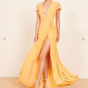 Reformation yellow Rosie dress